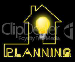 Planning Light Represents Sign Objectives And Aspirations