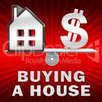Buying A House Displays Real Estate 3d Illustration