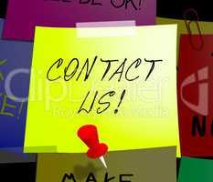 Contact Us Displays Customer Service 3d Illustration