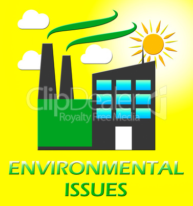 Environment Issues Factory Shows Nature 3d Illustration