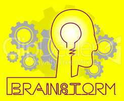 Brainstorm Cogs Means Dream Up And Brainstorming