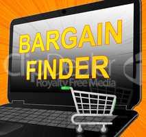 Bargain Finder Shows Internet Comparison 3d Illustration