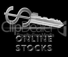 Online Stocks Means Internet Investing 3d Illustration