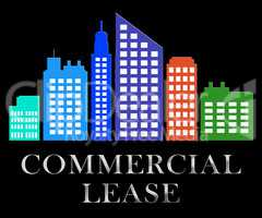 Commercial Lease Describes Real Estate Leases 3d Illustration