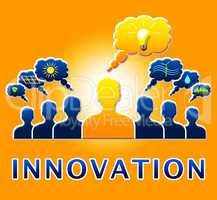 Innovation Lightbulb Showing Reorganization Transformation 3d Il