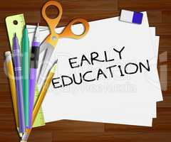 Early Education Shows Kids School 3d Illustration