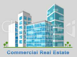 Commercial Real Estate Downtown Represents Properties 3d Illustr