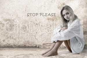 Sad girl Stop Please