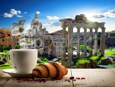 Coffee break in Roman Forum
