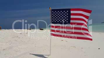 v01155 Maldives beautiful beach background white sandy tropical paradise island with blue sky sea water ocean 4k us american flag