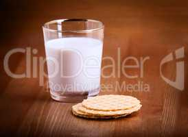 Milk and crackers