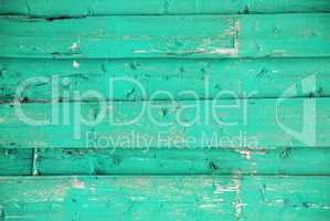 Turquoise Wooden Background With Copy Space