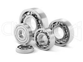 Ball bearings with different sizes