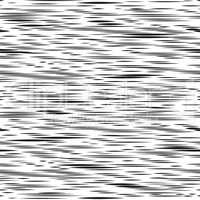 Abstract irregular stripe line seamless pattern. Black and white