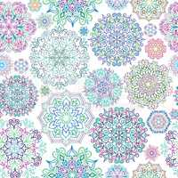 Floral ornamental seamless pattern. Abstract oriental geometric