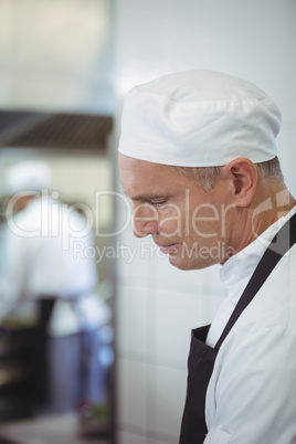 Chef preparing food in the commercial kitchen