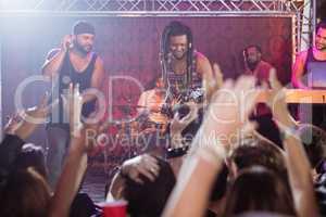 Performers performing at nightclub