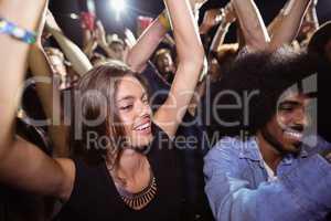 Friends dancing at nightclub