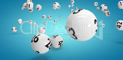 Composite image of falling lottery balls