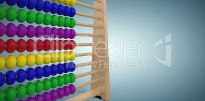 Composite image of computer graphic image of toy abacus