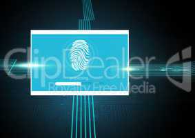 Identity Verify fingerprint App Interface