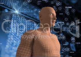 Digital composite image of 3d human figure