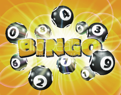 Lotto balls around the word Bingo