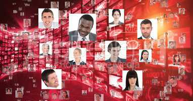 Digital composite image of business people portraits
