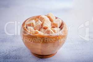 Sugar cubes on a white background