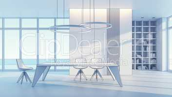 minimalism style interior of dining room