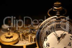 Pocket Watch And Gears
