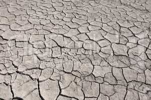 cracked by drought the ground