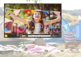 Camping festival fun video player App Interface