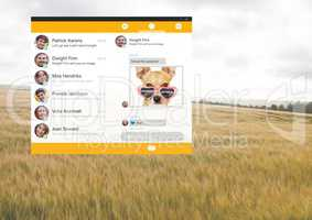 Social Media Messenger App Interface