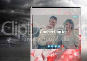 Connection lost storm for Social Video Chat App Interface