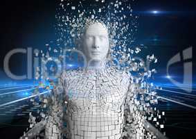 Digital composite image of 3d human