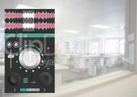 Sound Music and Audio production engineering equalizer App Interface