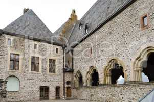 Inner courtyard of the castle of Vianden