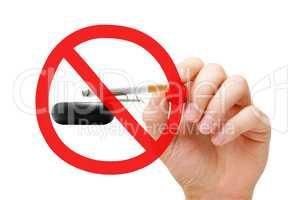 No Smoking Prohibition Sign Concept