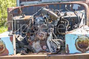Discarded scrap car