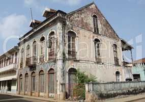 Kolonialgebäude, Sao Tome Stadt, Sao Tome und Principe, Afrika