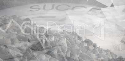 Composite image of grey rocks