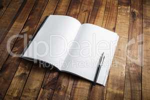 Open blank textbook