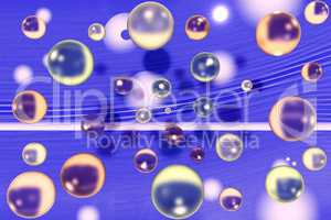 Colorful glass beads as wallpaper, 3d illustration