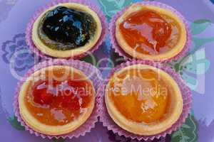 Various candied fruits close up