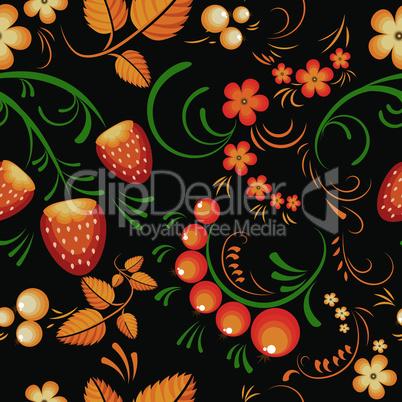 Seamless pattern khokloma