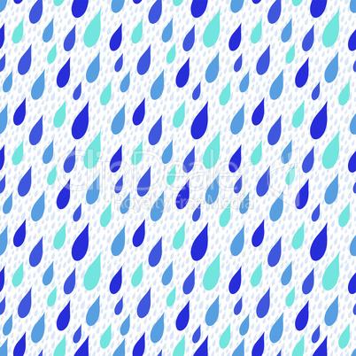 Rain drops falling seamless background