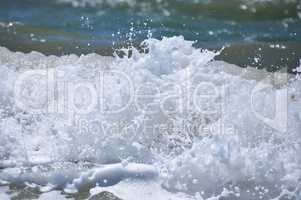 Foam from wave splash