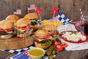 Snacks decorated with 4th july theme