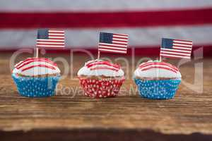 Patriotic cupcake with American flag